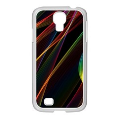Rainbow Ribbons Samsung Galaxy S4 I9500/ I9505 Case (white) by Nexatart