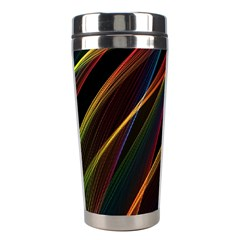 Rainbow Ribbons Stainless Steel Travel Tumblers by Nexatart