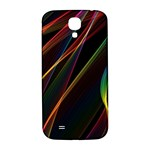 Rainbow Ribbons Samsung Galaxy S4 I9500/I9505  Hardshell Back Case Front