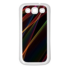 Rainbow Ribbons Samsung Galaxy S3 Back Case (white) by Nexatart