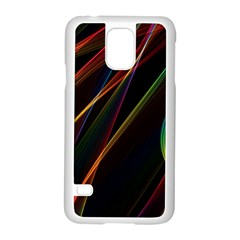Rainbow Ribbons Samsung Galaxy S5 Case (white) by Nexatart