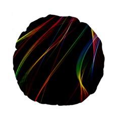 Rainbow Ribbons Standard 15  Premium Flano Round Cushions by Nexatart