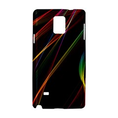 Rainbow Ribbons Samsung Galaxy Note 4 Hardshell Case by Nexatart