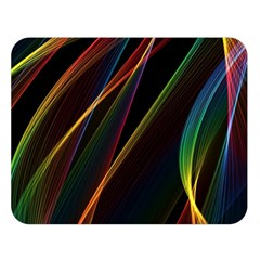 Rainbow Ribbons Double Sided Flano Blanket (large)  by Nexatart