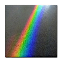Rainbow Color Spectrum Solar Mirror Tile Coasters