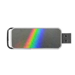 Rainbow Color Spectrum Solar Mirror Portable Usb Flash (two Sides) by Nexatart