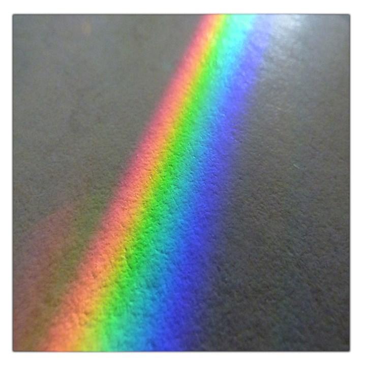 Rainbow Color Spectrum Solar Mirror Large Satin Scarf (Square)