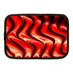 Red Fractal  Mathematics Abstact Netbook Case (medium)