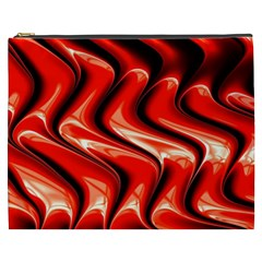Red Fractal  Mathematics Abstact Cosmetic Bag (xxxl)