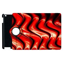 Red Fractal  Mathematics Abstact Apple Ipad 2 Flip 360 Case