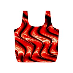 Red Fractal  Mathematics Abstact Full Print Recycle Bags (s)