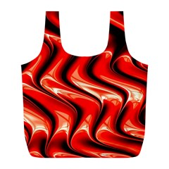 Red Fractal  Mathematics Abstact Full Print Recycle Bags (l)  by Nexatart