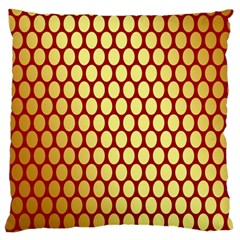 Red And Gold Effect Backing Paper Large Cushion Case (Two Sides) by Nexatart