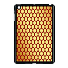 Red And Gold Effect Backing Paper Apple iPad Mini Case (Black) by Nexatart