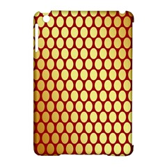 Red And Gold Effect Backing Paper Apple Ipad Mini Hardshell Case (compatible With Smart Cover) by Nexatart