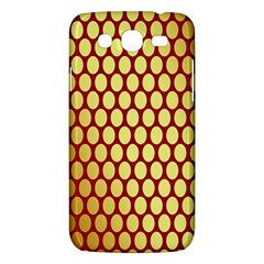 Red And Gold Effect Backing Paper Samsung Galaxy Mega 5 8 I9152 Hardshell Case  by Nexatart