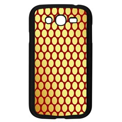 Red And Gold Effect Backing Paper Samsung Galaxy Grand Duos I9082 Case (black)
