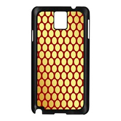 Red And Gold Effect Backing Paper Samsung Galaxy Note 3 N9005 Case (black)
