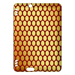 Red And Gold Effect Backing Paper Kindle Fire Hdx Hardshell Case by Nexatart