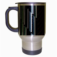 Red And Black High Rise Building Travel Mug (silver Gray)