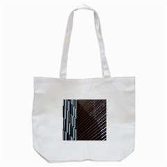 Red And Black High Rise Building Tote Bag (white)