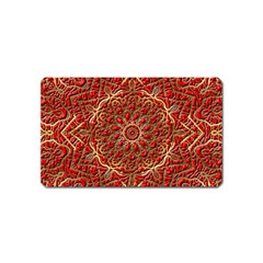 Red Tile Background Image Pattern Magnet (name Card)