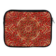 Red Tile Background Image Pattern Apple Ipad 2/3/4 Zipper Cases