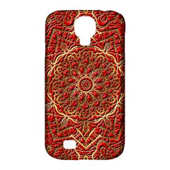 Red Tile Background Image Pattern Samsung Galaxy S4 Classic Hardshell Case (pc+silicone)