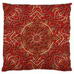 Red Tile Background Image Pattern Large Flano Cushion Case (two Sides)
