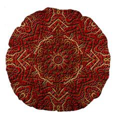Red Tile Background Image Pattern Large 18  Premium Flano Round Cushions by Nexatart