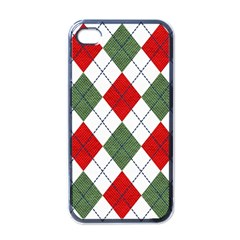 Red Green White Argyle Navy Apple Iphone 4 Case (black)