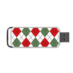 Red Green White Argyle Navy Portable Usb Flash (two Sides)
