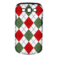 Red Green White Argyle Navy Samsung Galaxy S Iii Classic Hardshell Case (pc+silicone)