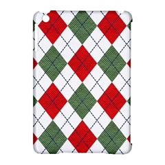 Red Green White Argyle Navy Apple Ipad Mini Hardshell Case (compatible With Smart Cover) by Nexatart