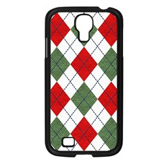 Red Green White Argyle Navy Samsung Galaxy S4 I9500/ I9505 Case (black)