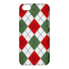 Red Green White Argyle Navy Apple Iphone 5c Hardshell Case by Nexatart