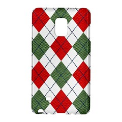 Red Green White Argyle Navy Galaxy Note Edge