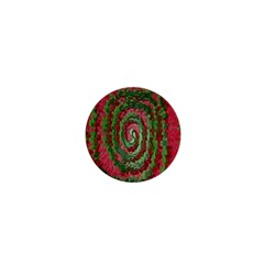 Red Green Swirl Twirl Colorful 1  Mini Magnets