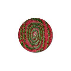 Red Green Swirl Twirl Colorful Golf Ball Marker