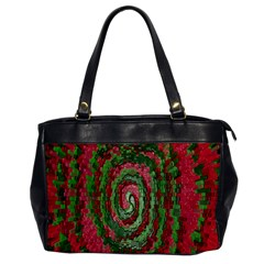 Red Green Swirl Twirl Colorful Office Handbags by Nexatart
