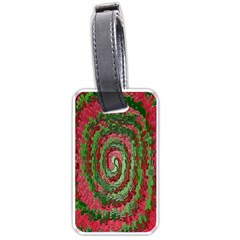 Red Green Swirl Twirl Colorful Luggage Tags (two Sides)