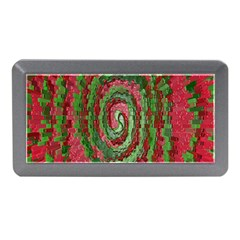 Red Green Swirl Twirl Colorful Memory Card Reader (mini)