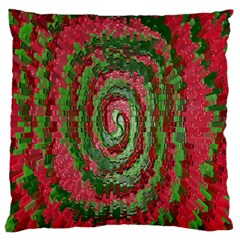 Red Green Swirl Twirl Colorful Large Cushion Case (one Side)