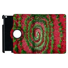 Red Green Swirl Twirl Colorful Apple Ipad 3/4 Flip 360 Case by Nexatart