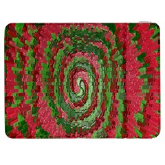 Red Green Swirl Twirl Colorful Samsung Galaxy Tab 7  P1000 Flip Case