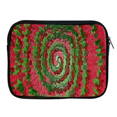 Red Green Swirl Twirl Colorful Apple Ipad 2/3/4 Zipper Cases