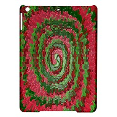 Red Green Swirl Twirl Colorful Ipad Air Hardshell Cases by Nexatart