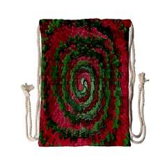 Red Green Swirl Twirl Colorful Drawstring Bag (small) by Nexatart