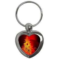 Red Silhouette Star Key Chains (heart)  by Nexatart