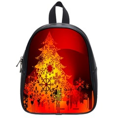 Red Silhouette Star School Bags (small)